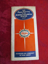 Esso Middle Atlantic States 1937 Road Map-Standard Oil Company of New Jersey