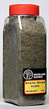 NEW Woodland Scenics Static Grass Flock Medium Green 32 oz FL635 NIB