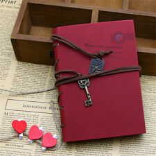 Retro Vintage PU Leather Bound Blank Pages Notebook Note Journal Diary EW