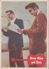 1956 Topps Elvis Trading Card #13 Elvis With Steve Allen