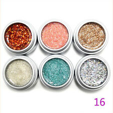 6 pots 9ml Glitter Color UV GEL Extension Builder Gel Nail Polish Nail Art Tips