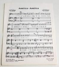 Partition vintage sheet music MICHEL SARDOU : América, América * 60's