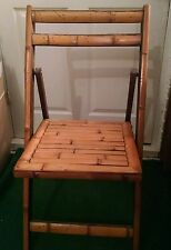 Vintage Bamboo Wooden Folding Chair patio