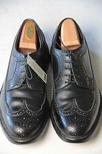 FLORSHEIM IMPERIAL Sz 10 E Black Wingtip 5 Nail V-Cleat Oxfords Dress Shoes