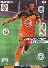 098 JORDAN AYEW GHANA FC.LORIENT ASTON VILLA CARD ADRENALYN 2016 PANINI