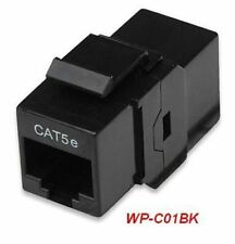 RJ45 Female to Female UTP CAT5e Keystone Coupler, Black
