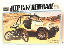 Revell 1/16 Scale Jeep CJ-7 Renegade & Suzuki Dirt Bike 1979 Plastic Model 7480