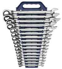 METRIC REVERSIBLE GearWrench Set - 16 piece Ratcheting Combo Wrench Set-KDT9602N