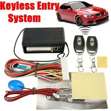 Car Keyless Remote Entry Central Door Locking Alarm System Lock Kit 2 Controller