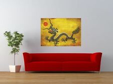 VINTAGE CHINESE DRAGON ORIENTAL GIANT ART PRINT PANEL POSTER NOR0584