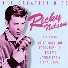 Greatest Hits Ricky Nelson CD 1996 Prism Teenage Idol 50s SHIPS FREE FROM USA