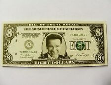 3 Funny Arnold Schwarzenegger Fake Money 8 Dollar Bill (GAG GIFT)