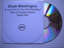 Dinah Washington  Is You Is Or Is You Ain't My Baby?, PROMO COPY CD Single