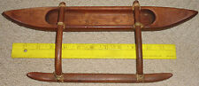 vintage koa wood outrigger canoe. hawaii hawaiian
