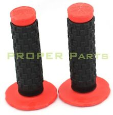 22mm Rubber Gel Hand Grips For Honda Yamaha Suzuki KTM Motorcycle Handlebar Red