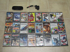 Sony PSP Schwarz mit 3 Spiele + Zubehörpaket (3004)