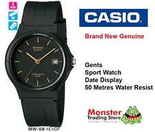 AUSSIE SELLER CASIO 50M WATER RESIST DATE MW59 MW-59-1EV 12-MONTH WARRANTY