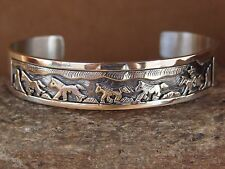 Native American Jewelry Sterling Silver Pueblo Bracelet by Sharon Cisco