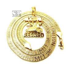 "Hip Hop Gold NO LIMIT RECORD Pendant & 24"" NO LIMIT Herringbone Chain Necklace"