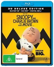 Snoopy And Charlie Brown- Peanuts Movie(Blu-ray, 2-Disc 3D Brand New & Sealed