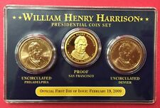 William Henry Harrison Encased Presidential Coin Set Free Shipping
