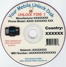 Massive Phone Unlock/Unlocking Software DVD X2 and Mobile Unlock Codes 24GB.