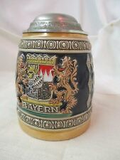 Vintage 1970's West Germany Gerz pewter lid Beer Stein Hand Arbeit Made