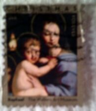 2011 Scott 4570 U. S. Madonna and Child one used 44 cent stamp on paper