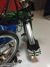 Brompton Genuine Leather Front Mudflap 3colors. Racing Green edition.