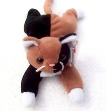 """TY BEANIE BABIES CALICO CAT """"CHIP"""" 1996 WITH PLASTIC TAG PROTECTOR ~NEW~"""