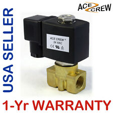 3/8 inch 24V AC VAC Brass Solenoid Valve NPT Gas Water Air ONE-YEAR WARRANTY