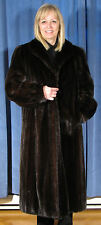 $5,000.00 PRISTINE CANADA MAJESTIC (L) DARK RANCH FEMALE MINK FUR COAT *MINT AAA