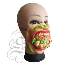 Medio Rostro Comedia gente divertida Dedo Burger Stag grandes labios Gallina Fancy Máscara De Latex