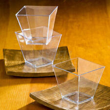 Elegant Square Mini 2oz Clear Tasting Sample Shot Glasses 100 Ct Dessert cups