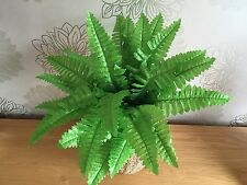 3 X Bunches Of Artificial Silk Ferns Home Dec Garden Plants