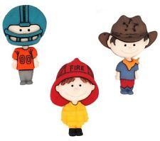 Jesse James Buttons ~ Dress It Up - WHEN HE GROWS UP ~ Fireman Cowboy Football