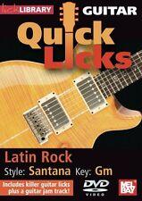 LICK LIBRARY Learn to Play QUICK LICKS SANTANA Carlos Latin Rock Hits GUITAR DVD
