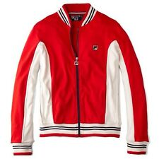 '80s Tennis Classics' Fila Vintage Mk 1 Settanta Bj Borg Red Track Top UK Medium