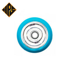 2X PRO STUNT SCOOTER BLUE SILVER SOLID METAL CORE WHEELS 100mm ABEC 9 BEARING 11