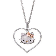 Kimora Lee Simmons Hello Kitty Diamond Necklace in Sterling Silver/Gold