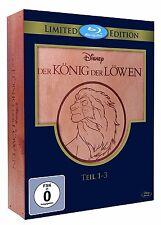 Der König der Löwen 1-3 Trilogie 1, 2, 3 Holzbox Limited Edition Blu-Ray NEU&OVP