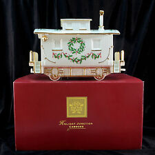 """Lenox China HOLIDAY JUNCTION Train CABOOSE Centerpiece Car 12"""" 1stQlty NvrDsplyd"""