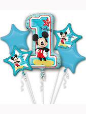 MICKEY Mouse 1st Compleanno Foil Balloon BOUQUET DISPLAY Ideale Festa Decorazione