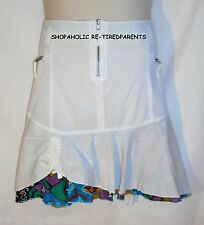 SKIRT – JOE BROWNS – WHITE – RUFFLED HEM with FLORAL INSERT - SIZE 16 – NWT $48