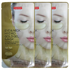 Purederm Eye Zone & Neck Hydro Gold Gel Mask Dark Circles Patches x 3 Packs