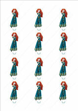 Novelty Princess Merida Stand Up Cake Cupcake Toppers Edible Birthday Girls Cute