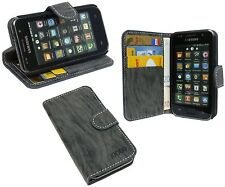 Samsung Galaxy s1 plus i9001 // Book Style funda funda cascara antracita