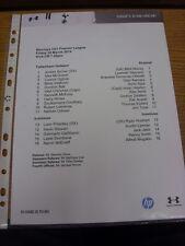 28/03/2014 Tottenham Hotspur u21 V Arsenal u21 (singolo foglio). grazie per viewi