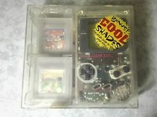 CONSOLE NINTENDO GAME BOY CLEAR + CUSTODIA HARD CASE + 2 GIOCHI MARIO e TENNIS