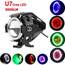 Motorcycle Bike U7 125W LED Headlight Angle Eyes Turn Signal Indicator Spotlight